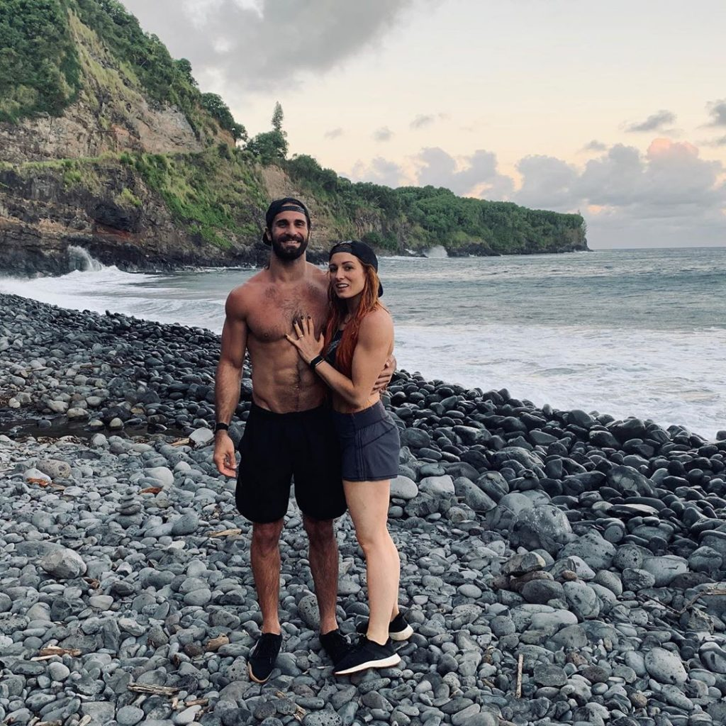 The Irish wrestler is engaged to Seth Rollins