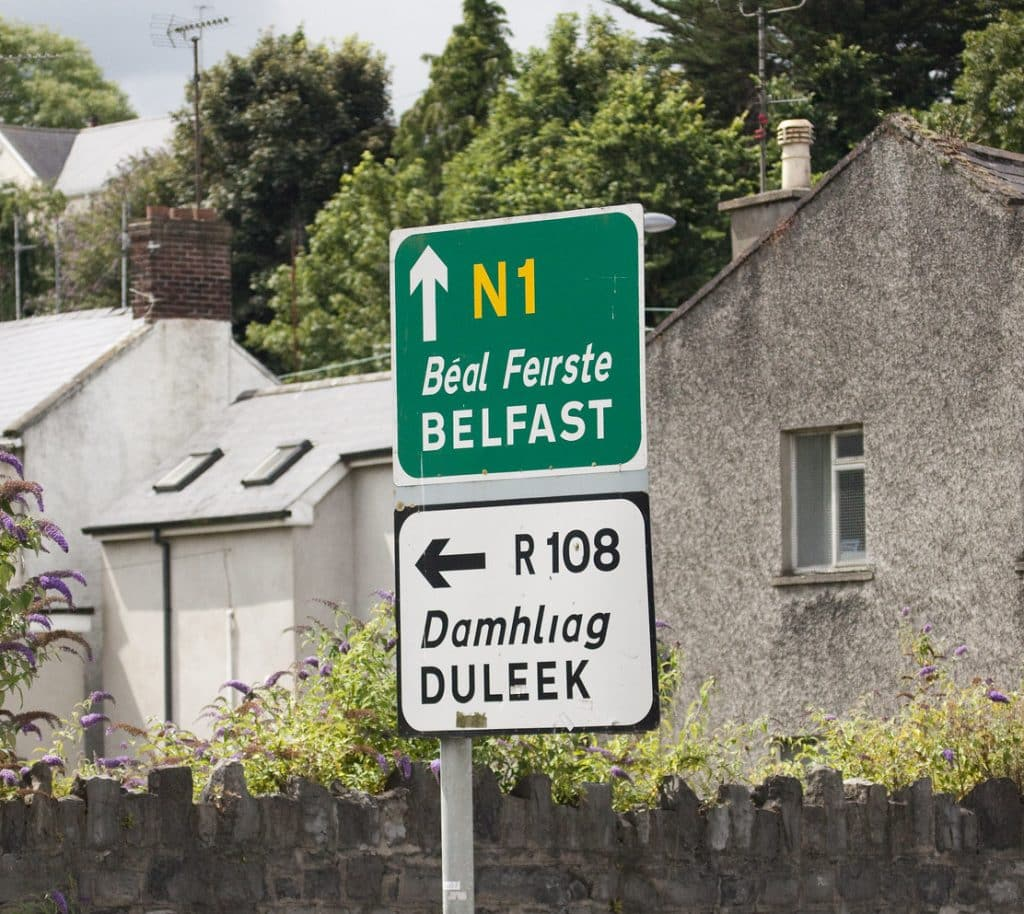 "The Irish translation of Belfast is ""Beal Feirste"""