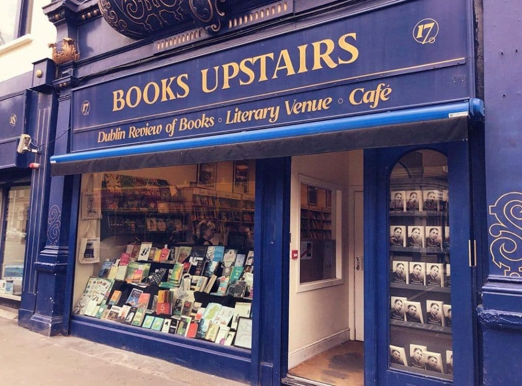 Books upstairs may be the most charming bookstore in the capital of Ireland