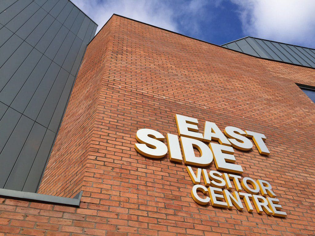 The EastSide Visitor Centre in Belfast