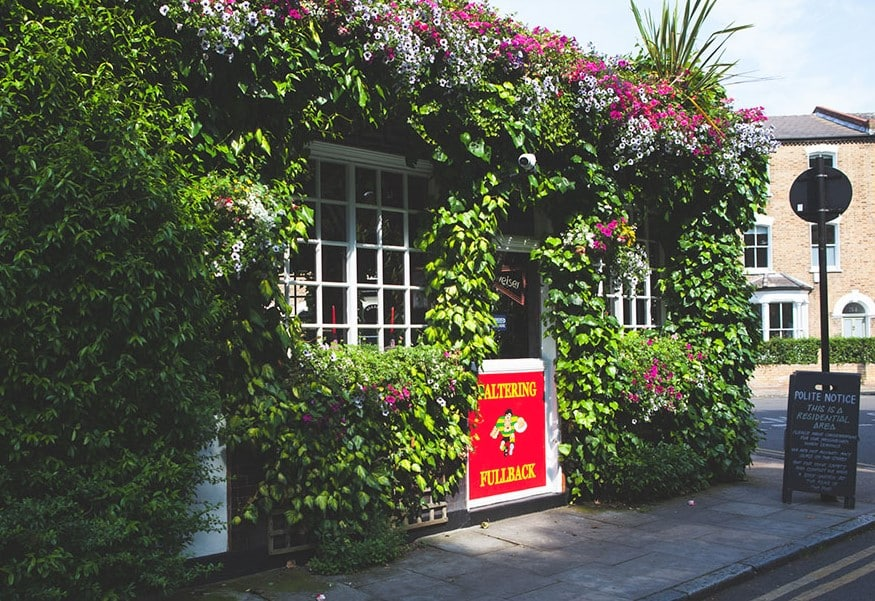 The Faltering Fullback is a quirky pub in London