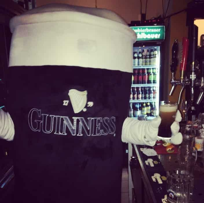 Dress as a pint of Guinness for Halloween