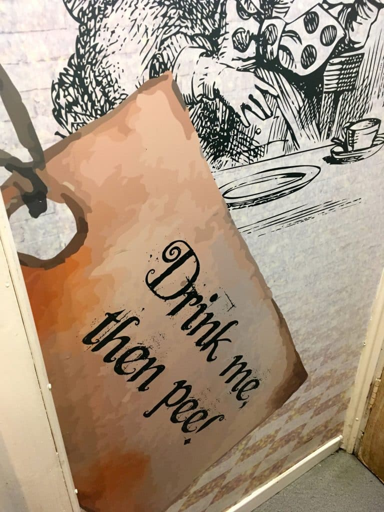 The restroom in this Belfast cafe offers users quirky advice