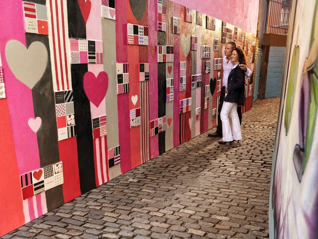 Romantic Valentine's Day getaways in Ireland include Love Lane in Dublin