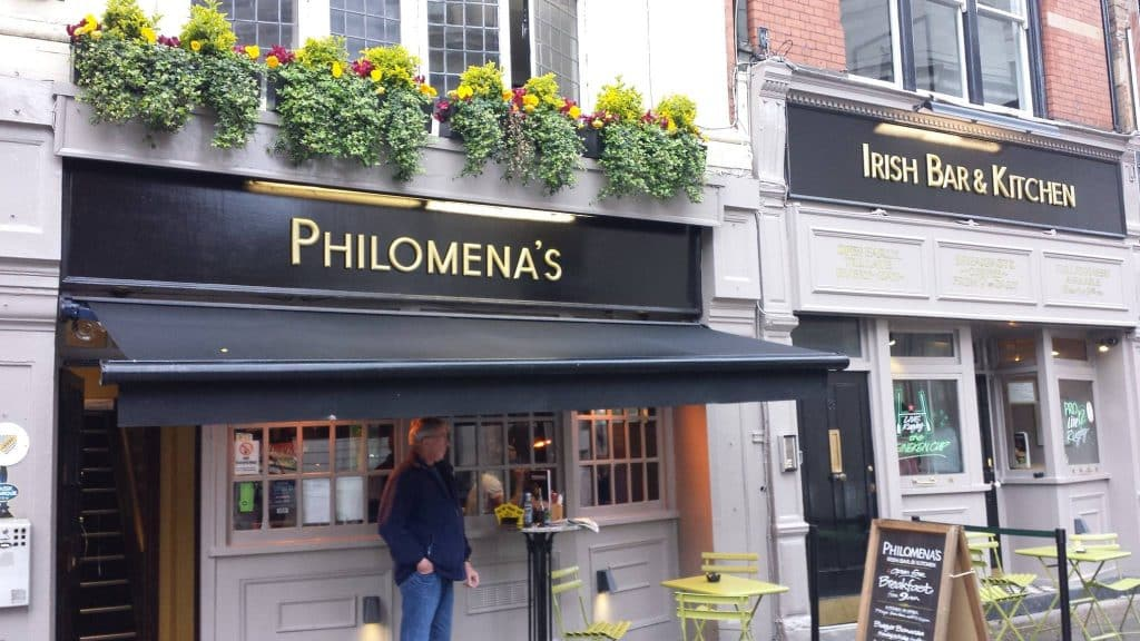 Philomena's in London is one of the 10 best Irish pubs in England
