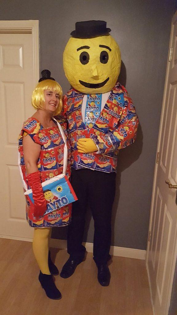 Dress as a bag of Tayto crisps for Halloween