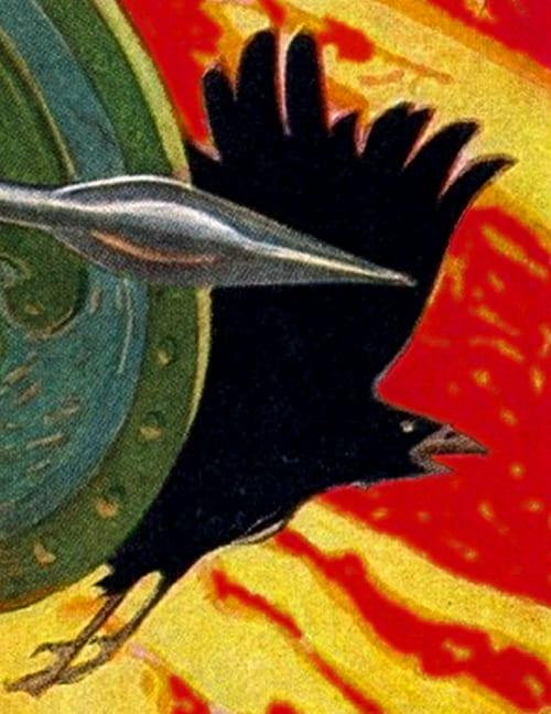 The Morrigan as a battle crow