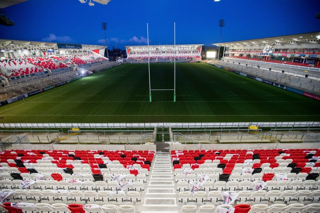 Grab an Ulster Rugby game at the Kingspan Stadium in Belfast.