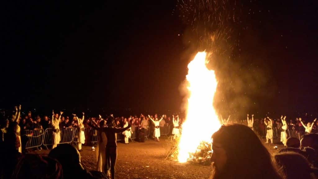 Bonfires were a frequent element of Bealtaine, a traditional festival in the ancient Irish calendar.