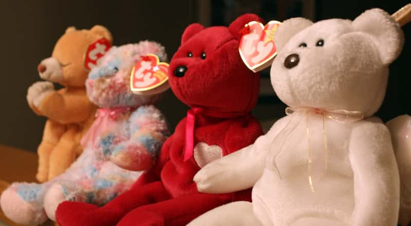 Beanie Babies were all the rage in the nineties