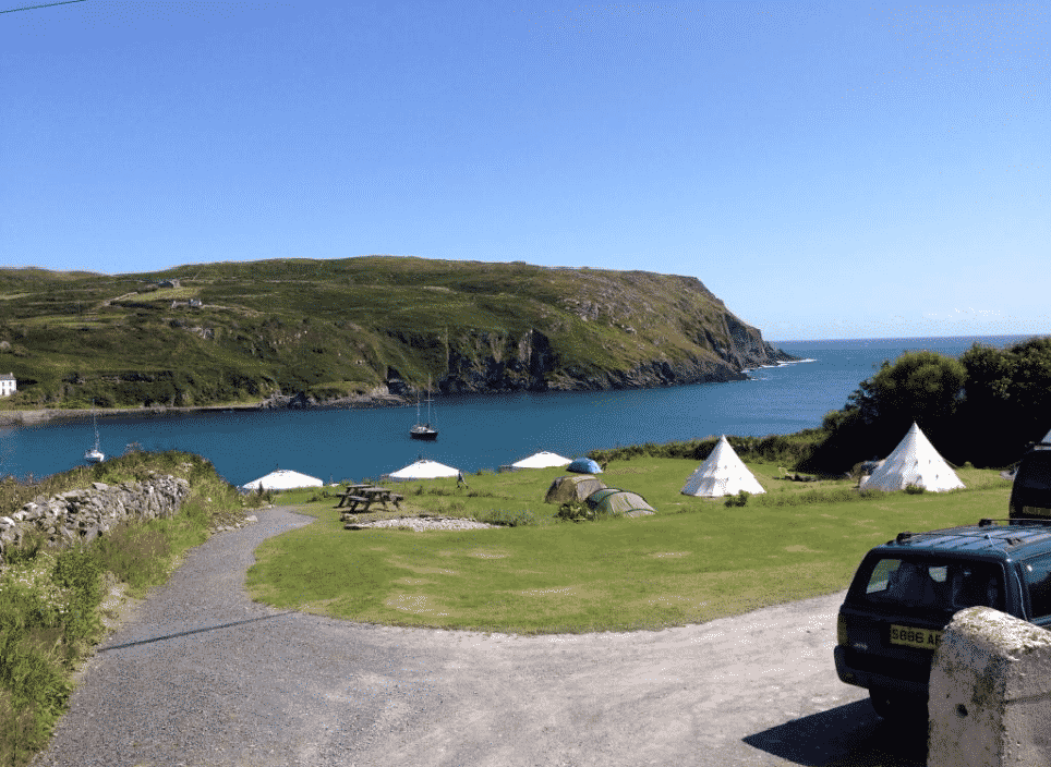 Chléire Haven in Co. Cork is the perfect place for an island experience, one of the top camping sites in Ireland.
