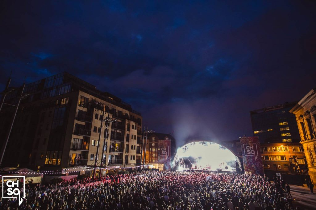 Custom House Square is one of our 5 outdoor concert venues in Belfast thanks to it's CHSq music festival.
