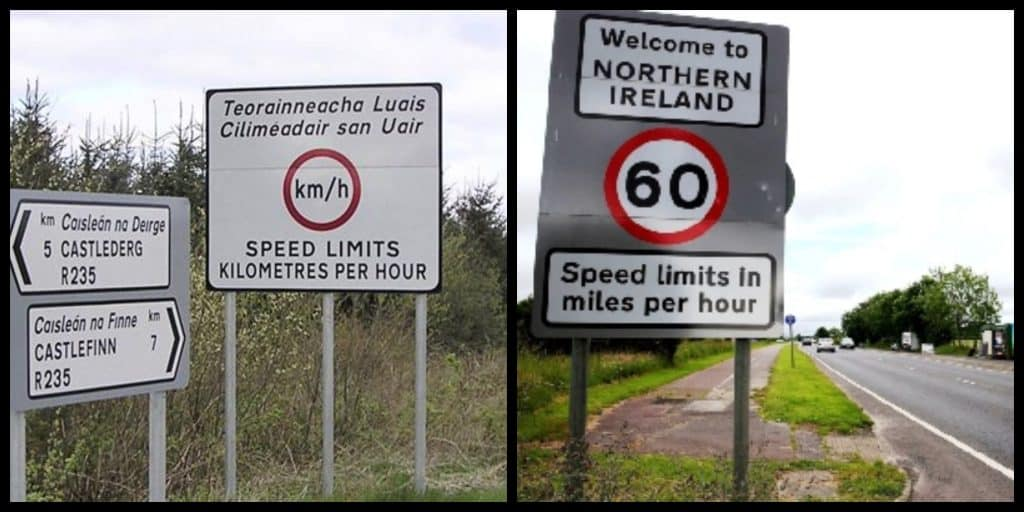 10 differences between Northern Ireland and the Republic of Ireland include units of measurement