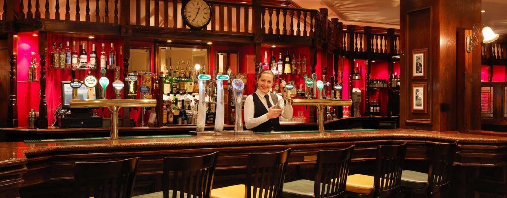 The Dubliner Pub is the first stop on our DART ale trail