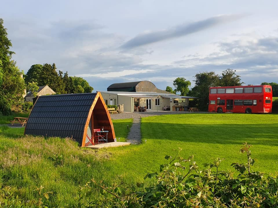 Glasson Glamping Farm is one of the 10 best camping sites in Ireland according to reviews