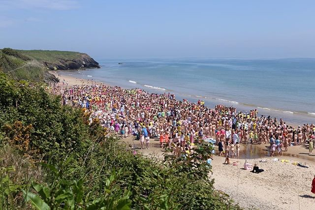 Ireland posssesses the world record for largest skinny dipping session