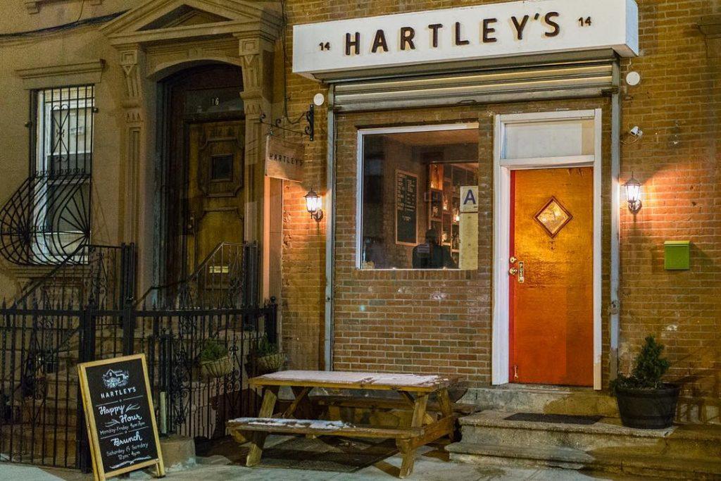 Hartley's is a trendy Irish pub in New York.