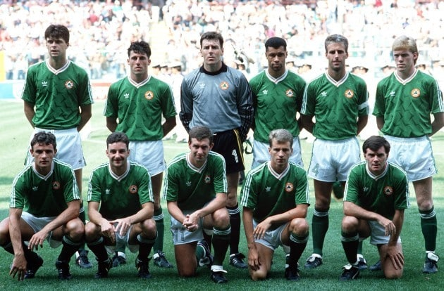 Ireland's football team in the 90s was the dream team