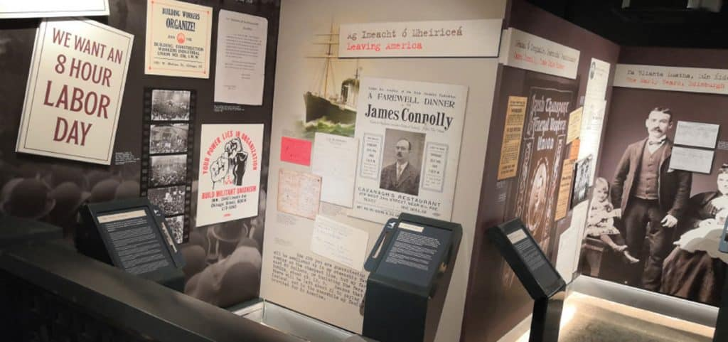 The James Connolly Visitor Centre includes an informative exhibition