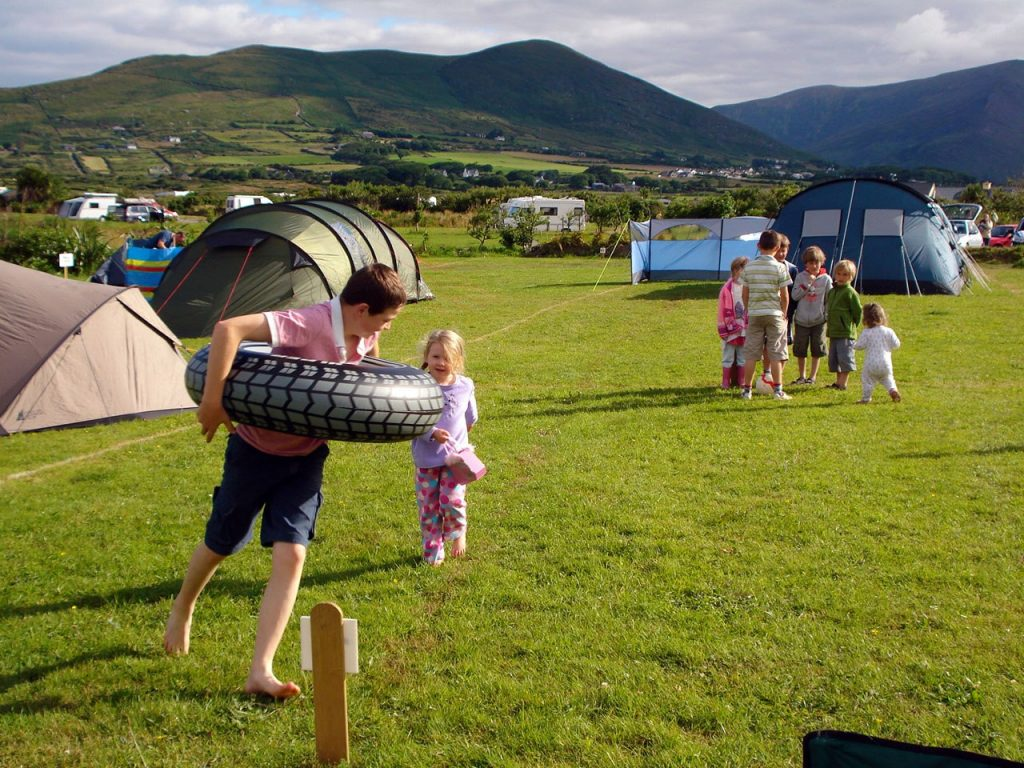 Mannix Point may be the best site for campers on the Emerald Isle