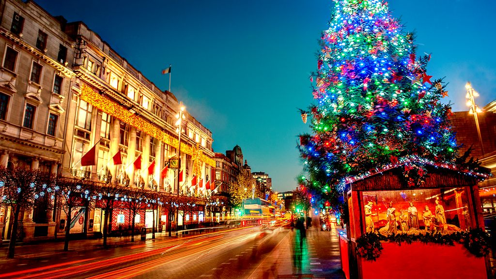 Dublin is a beautiful place to visit at Christmas, complete with lights throughout the city