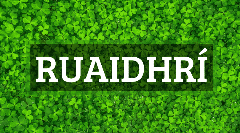 Ruaidhrí is one of the top 10 Irish boy names that nobody can pronounce