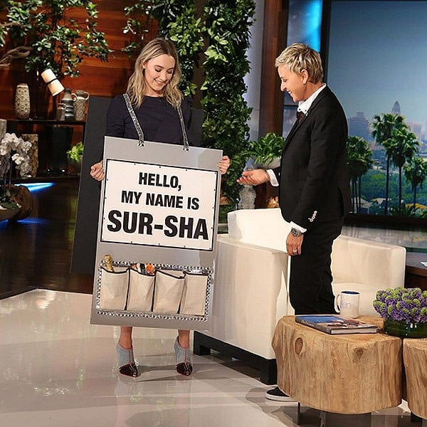 Saoirse Ronan helps the audience pronounce her Irish name on the Ellen Show