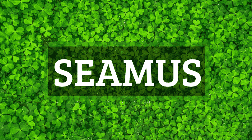 Seamus is one of the top 10 Irish boy names that nobody can pronounce