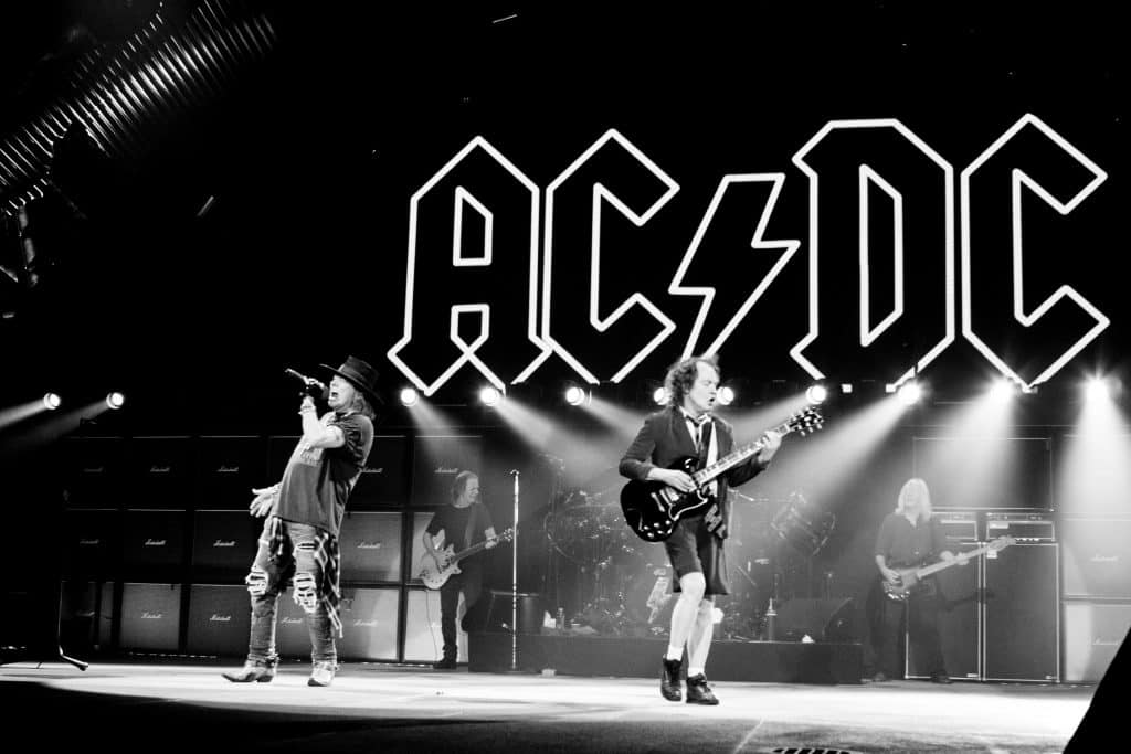 """Ac/Dc's """"Thunderstruck"""" is another much-loved song at all Irish weddings."""