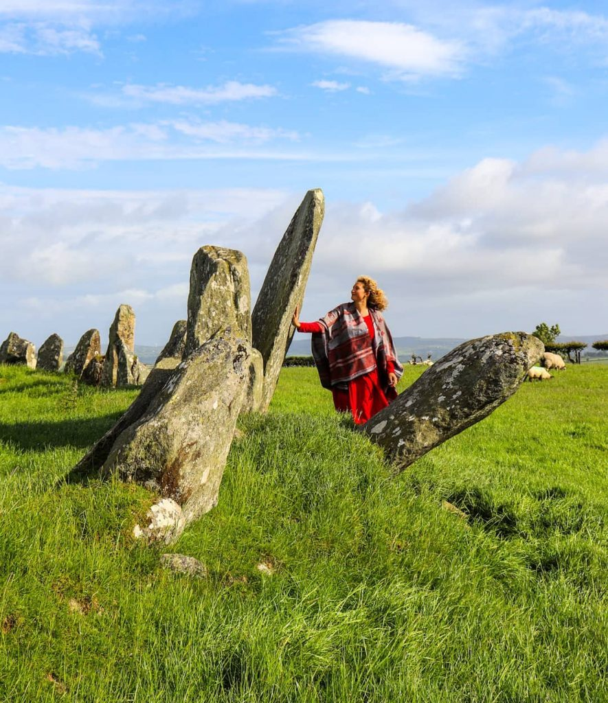 The Beltany Stone Circle is located in County Donegal