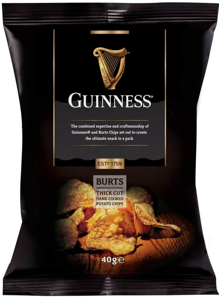 Guinness crisps are a delicious snack with a pint or on their own, one of our favourite Guinness-flavoured treats you need to try.