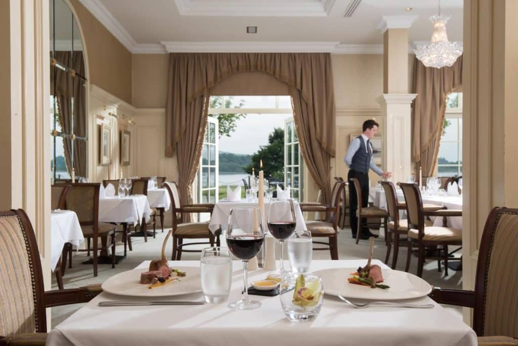 Reasons to visit the Lough Erne Resort include its first-rate food menu