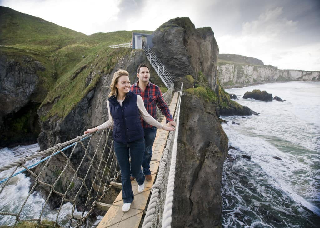 10 things that need to be on your 2020 Irish bucket list include crossing the Carrick-a-Rede rope bridge