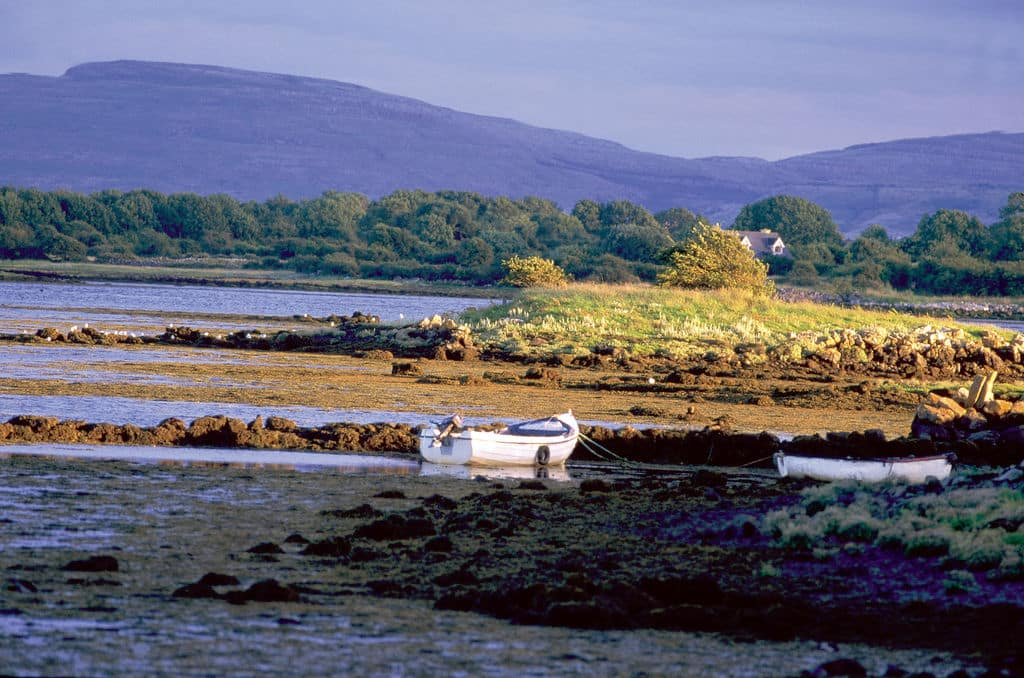 The pink cottage on sale on Ireland's Wild Atlantic Way is in a beautiful area of County Clare, the Burren.