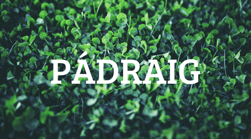 Pádraig, a beautiful name, is another Irish name that's made our list of 10 Irish first names no one can pronounce.