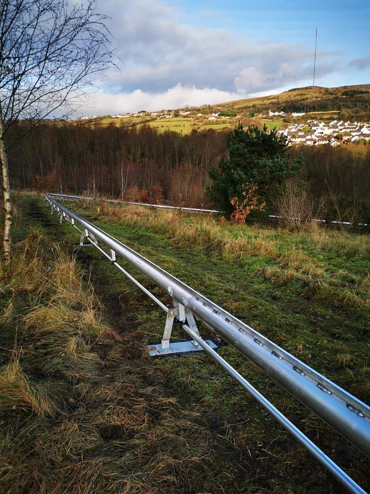 Barra Best has revealed this photo of the new alpine roller coaster in West Belfast