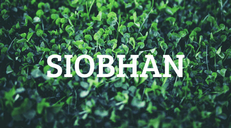 Siobhan is a magical Irish name that is notoriously difficult to pronounce, but it sure is beautiful.