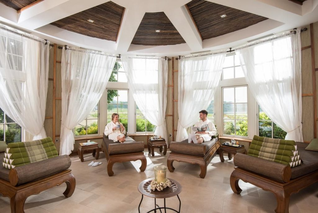 Reasons to visit the Lough Erne Resort include its Thai spa