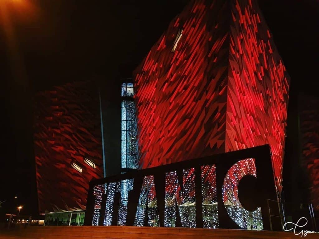 Titanic Belfast is all lit up for Christmas!