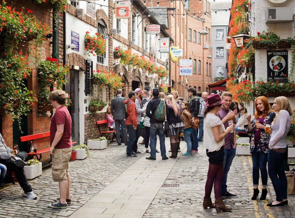 Commercial Court is a picturesque street in Belfast's Cathedral Quarter
