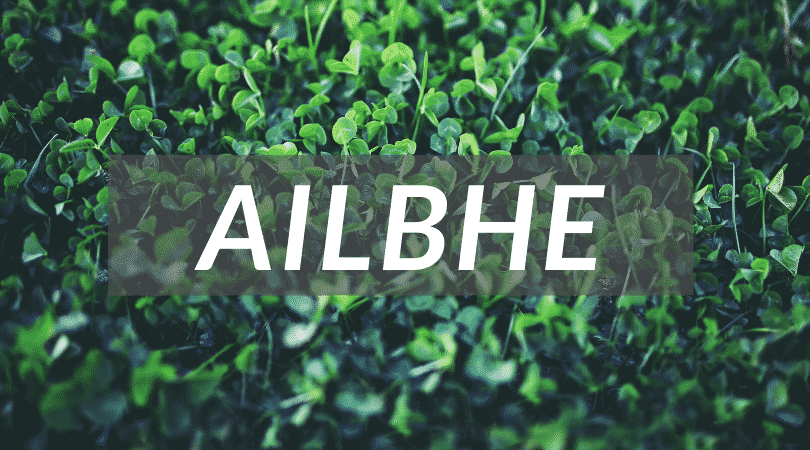Alibhe is a strange and unusual Irish girl name but it's still beautiful and pretty.