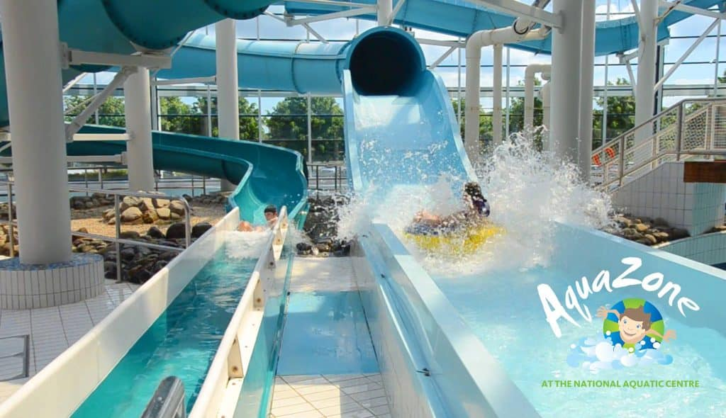 Aquazone is located close to Dublin, one of the best water experiences in summer and a good activity for every type of weather.