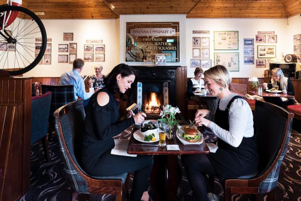 The Cuans restaurant in Strangford is well worth a visit for ambience and charm alone.