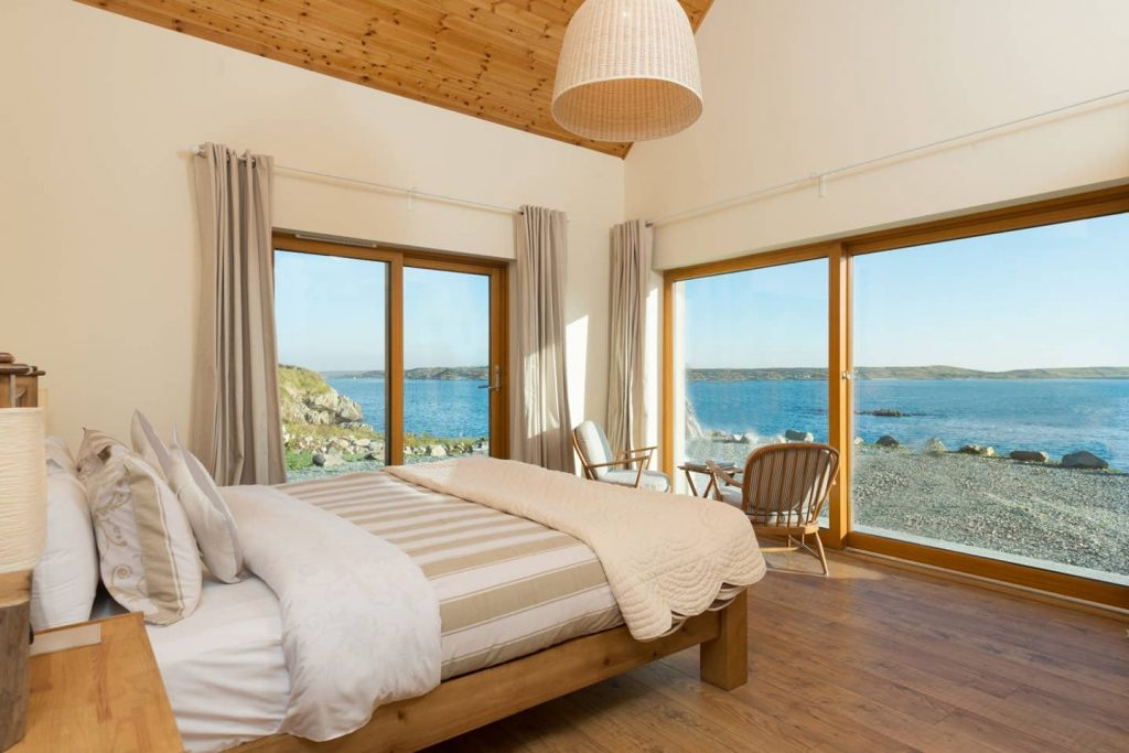Unique Airbnbs in County Galway include Dolphin Beach Lodge