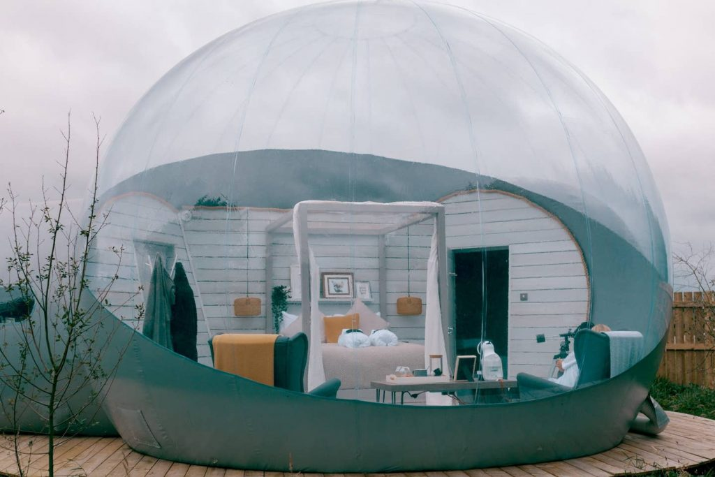 The Foxborough Bubble Den is located in County Antrim