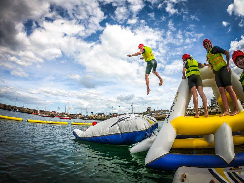 Harbour Splash outside Dublin is a must-visit attraction this summer, a fun-filled adventure course.
