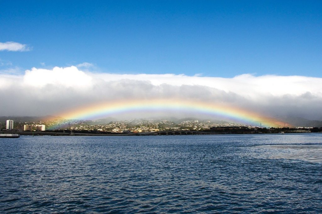Amazing facts about rainbows include the fact that Hawaii has the most rainbows on Earth