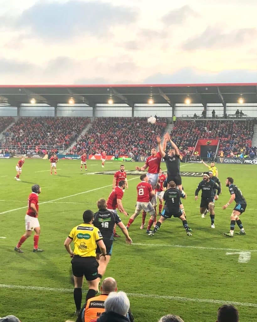 Live events in Ireland this February include Guinness Pro 14 in Cork