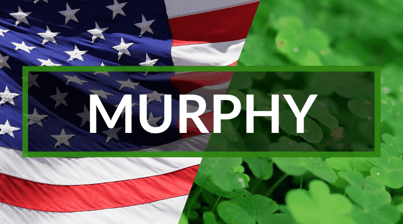 Murphy is our top pick for common Irish surnames you'll hear in America, it translates to the sea warrior.