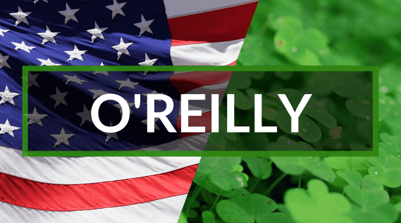 O'Reilly is another of our Irish surnames you'll hear in America, it means the descendants of Raghaillach.